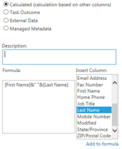 SharePoint Calculated Full Name