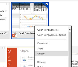 Embed PowerPoint in SharePoint