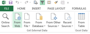 Get External Data in Excel Power Query