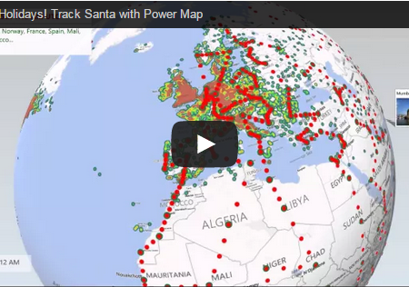 Santa Power Map