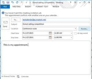 Email a SharePoint calendar