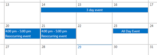 SharePoint Calendar Basics