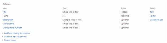 Content Type Column