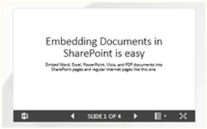 Embedding Documents In SharePoint