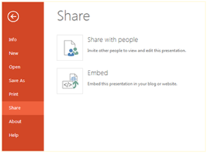 Embedding documents with OneDrive