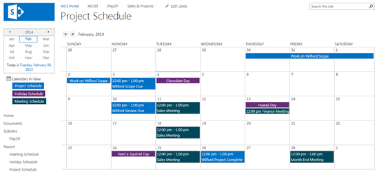 SharePoint Calendar Colors